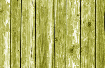 Old wooden fence pattern in yellow color.