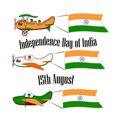 Independence Day of India, set with three planes