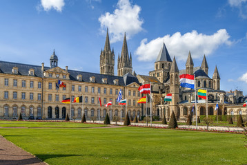 Fototapete - Abbey of Saint-Etienne, Caen, France