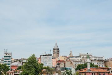 Beautiful view of the European part of Istanbul. Travel around Turkey