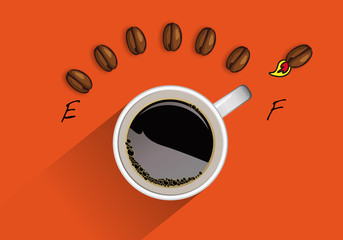 café - énergie - concept - carburant - tasse de café - dopage - caféine - énergétique - énergique - plein