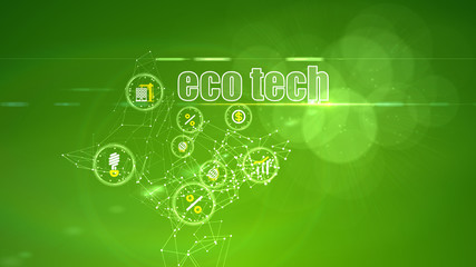 Investing Backdrop with Eco Tech Ideas