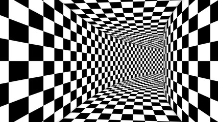 Optical Square Black and White Illusion
