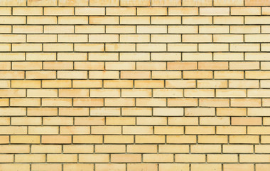 Yellow brick wall, brickwork texture, background