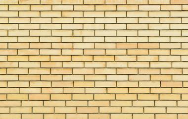Yellow brick wall, brickwork texture, background