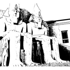 giant sculptures in Egypt