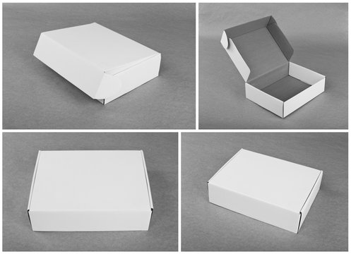 Set of cardboard boxes