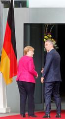 Germany's Merkel meets NATO Secretary General Jens Stoltenberg