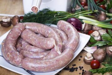 Homemade Making Sausage