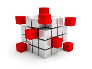 cubes travail d'équipe communication