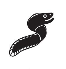 Vector happy eel