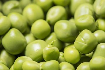 green peas close up - macro photo