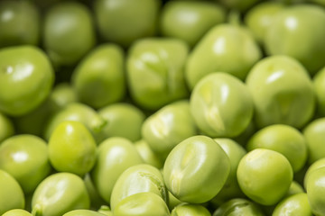 green peas close up - macro photo