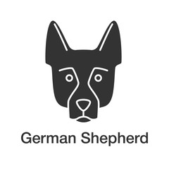 German Shepherd glyph icon