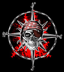 wind rose skull
