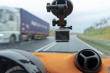 Dashcam im Fahrzeug