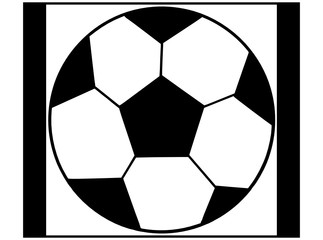 Soccer ball in a black  - white colors.