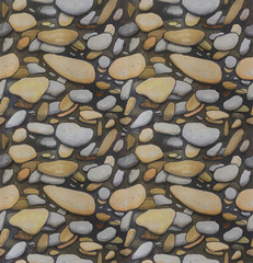 Seamless Pebble background Hand drawn sketch
