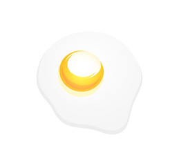 Vector Icon of Omelette for Decoration of Kitchen and Restourant Project, EPS 10 illustration.