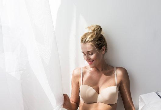 Pretty Woman Posing in Lingerie