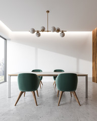 White office meeting room interior