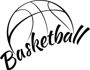Basketball with Fun Text