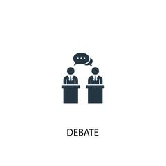 debate icon. Simple element illustration