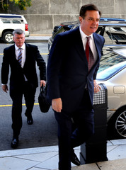 Former Trump campaign manager Manafort arrives for arraignment at U.S. District Court in Washington