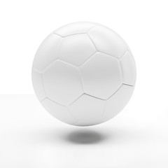 3d classic soccer ball on white background