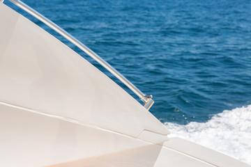 Sea waves splashing, yacht track