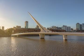Womens Bridge (Puente de la Mujer) in Puerto Madero - Buenos Aires, Argentina