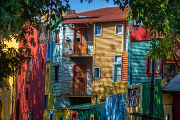 Colorful Caminito Street in La Boca neighborhood - Buenos Aires, Argentina