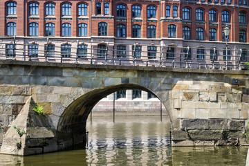 Kultur Denkmal Zollenbrücke in der Hamburger Alststadt sonnig