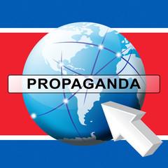 Propaganda Communist Hoax From North Korean 3d Illustration