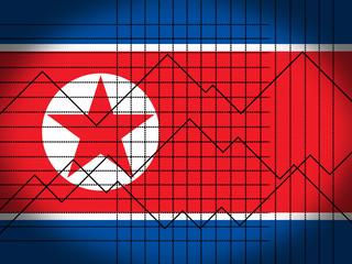 North Korea Economy And Finance 3d Illustration