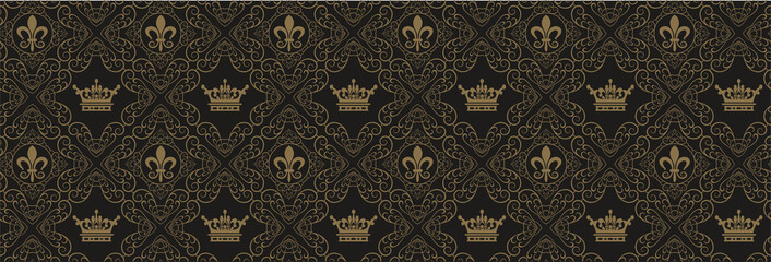 Seamless Wallpaper Damask - Royal Background