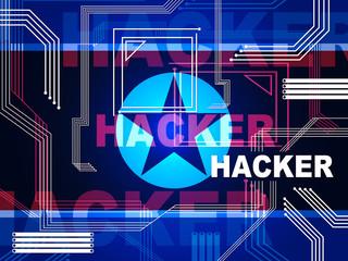 Hackers Means North Korean Data Virus 3d Illustration