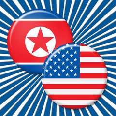 North Korean And USA Nuclear Conflict 3d Illustration