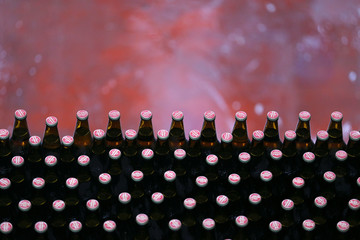 Bottles of beer are seen on the production line at the Birra Peroni beer factory in Rome