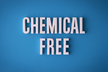 Chemical Free sign lettering