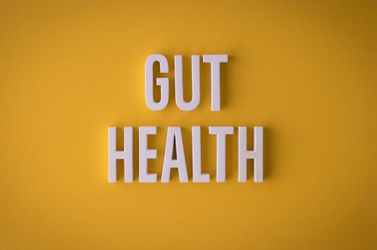 Gut Health sign lettering