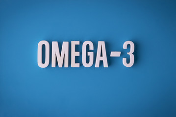 Omega-3 fatty acids sign lettering