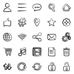 Toolbar Or Menu Icons Freehand