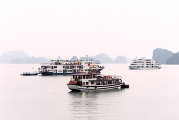 Touristic cruises in Halong Bay, Veitnam