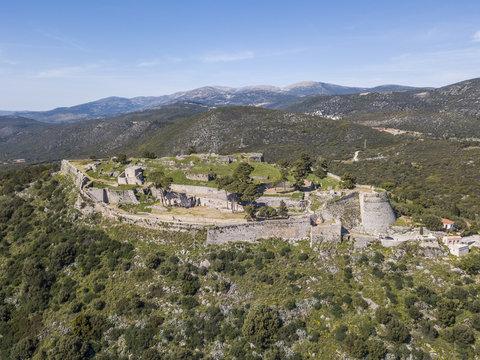 Remarkable Venetian castle of Saint George (Agios Georgios) on Kefalonia island