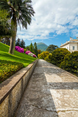 Villa Melzi and its gardens near Bellagio at the famous Italian lake Como in May