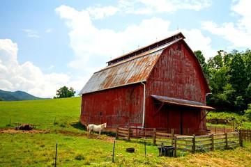 RED BARN HORSE FARM RURAL