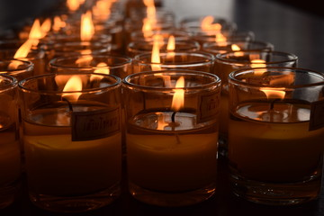 the candle in line
