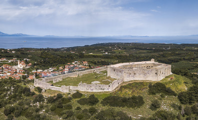 Chlemoutsi castle in the Peloponnese peninsula of southern Greece