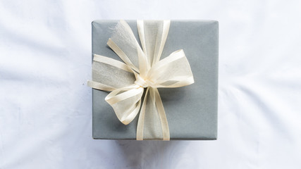 Gift happy box for surprise on white color background
